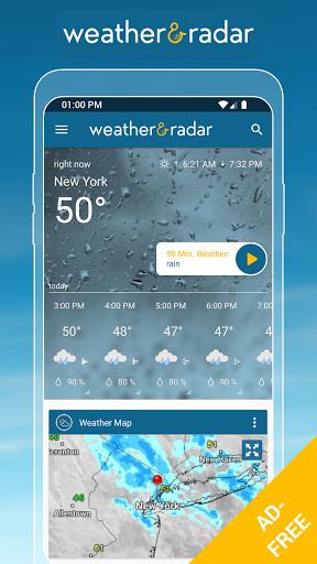 Download APK: Weather & Radar USA – Storm alerts -ad free v2021.13 [Paid] [Mod Extra]