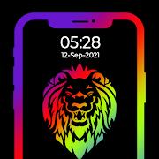 Edge Lighting Wallpaper 2021 - Digital Clocks