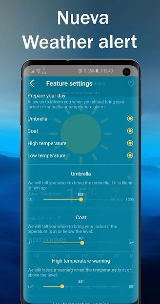 Screenshot 9 de Tiempo en vivo - Pronóstico del tiempo 2020 para android