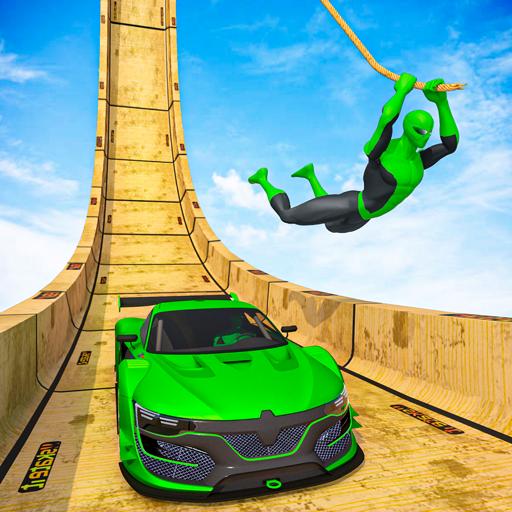 Superhero Mega Ramp: GT Racing Stunts Car_Games