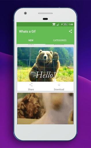 Whats a Gif - GIFS Sender(Saver,Downloader, Share) 2.2.15.0 Screenshots 6