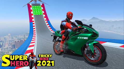 Superhero Tricky bike race (kids games) android2mod screenshots 7