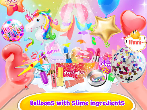 Bubble Balloon Makeup Slime  - Slime Simulator  screenshots 10