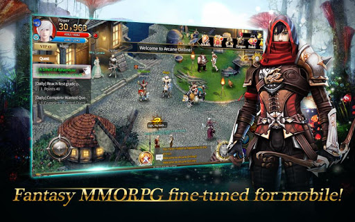 Code Triche Arcane Online - Best 2D Fantasy MMORPG mod apk screenshots 1