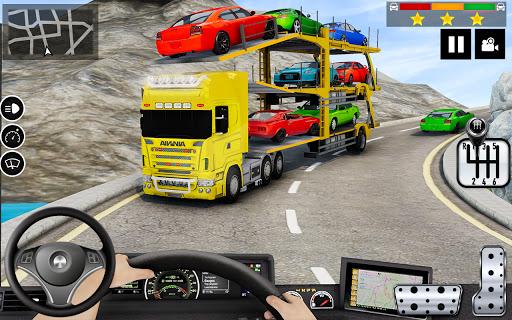 Car Transporter Truck Simulator-Carrier Truck Game screenshots 1