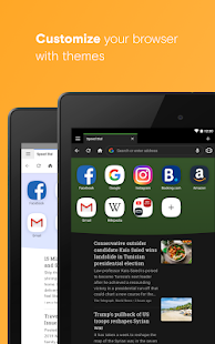 Opera browser with free VPN Screenshot