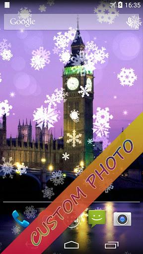 Snowflake Xmas Live Wallpaper ss2