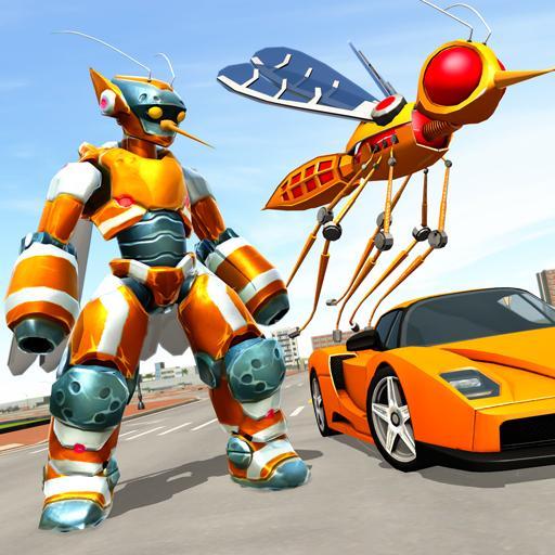 Mosquito Robot Car Game - Transforming Robot Games