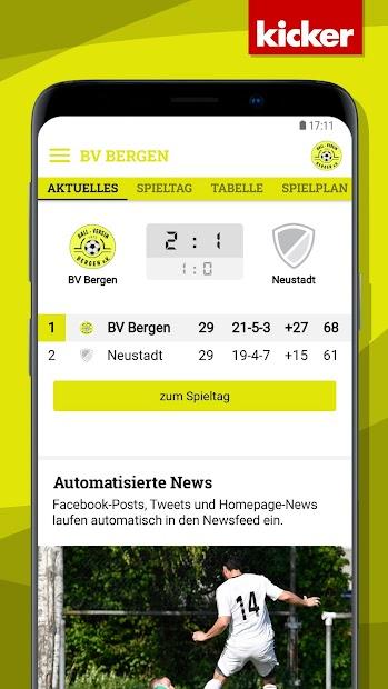 BV Bergen screenshot 2