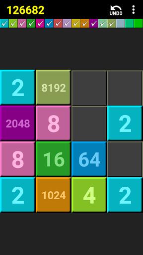 2048 colors puzzle screenshot 1