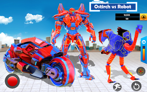 Flying Ostrich Robot Transform Bike Robot Games 38 screenshots 6