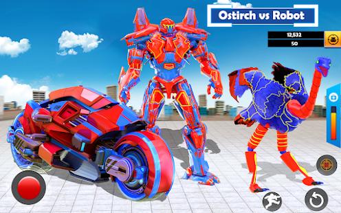 Flying Ostrich Air Jet Robot Car Game  Screenshots 10