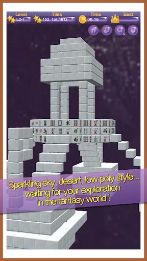 Stacker Mahjong 3D  II - Fantasy World  screenshots 4