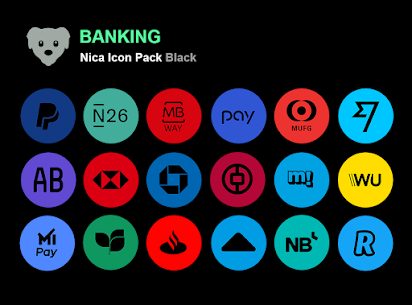Nica Icon Pack Black MOD APK 1.0.8 2