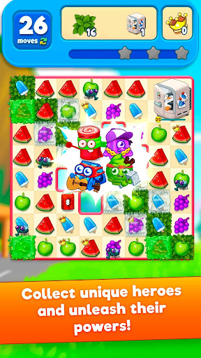 ?sugar heroes - world match 3 game! screenshot 2