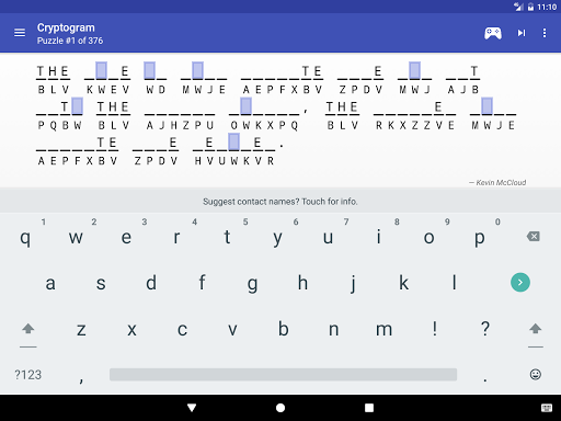 Cryptogram - puzzle quotes  screenshots 10