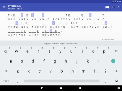 Cryptogram - puzzle quotes