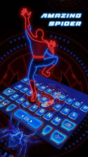 amazing spider keyboard theme screenshot 1
