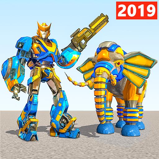 Gajah robot vs perang robot singa