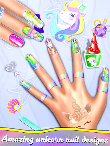 Manicure Nail Salon- Unicorn Fashion Game for Girl apkdebit screenshots 5