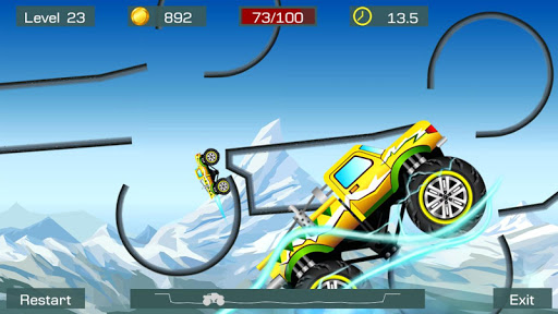 Monster Stunts -- monster truck stunt racing game apkslow screenshots 4