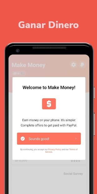 Captura de Pantalla 2 de Make Money: Recompensa y Gana Dinero Real Cash App para android