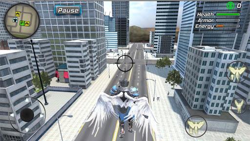 Crime Angel Superhero - Vegas Air Strike Apkfinish screenshots 17
