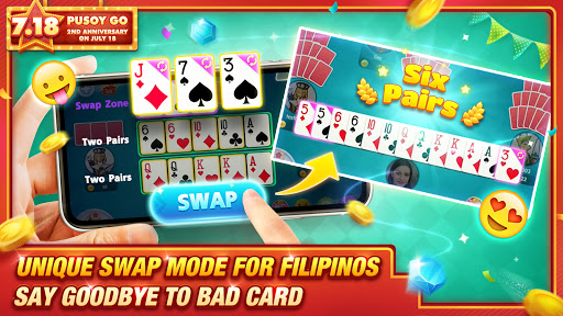 Pusoy Go-Free Tongits, Color Game, 13 Cards, Poker android2mod screenshots 4
