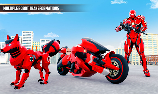 Wild Fox Transform Bike Robot Shooting: Robot Game  screenshots 2