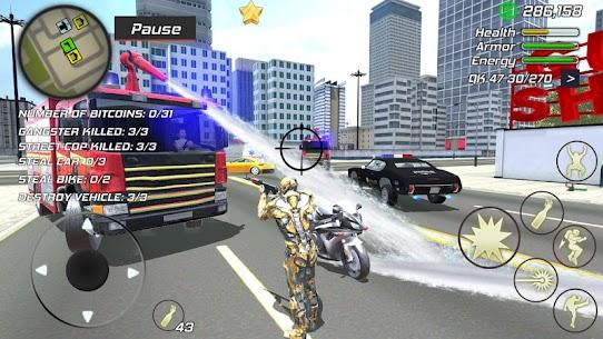 Super Crime Steel War Hero Iron Flying Mech Robot Mod Apk 1.2.5 (Free Shopping) 8