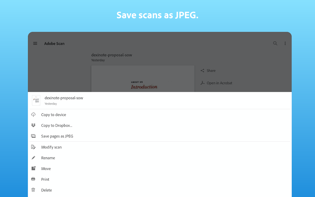 Adobe Scan: PDF Scanner with OCR, PDF Creator  poster 9