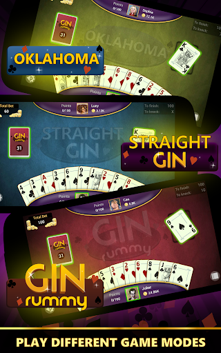 Gin Rummy - Offline Free Card Games apkpoly screenshots 9