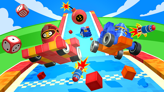Free Pixel Car Racer – Real Voxel  Blocky Cars Racing 3