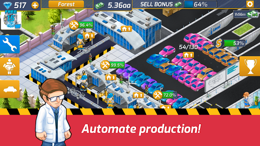 Idle Car Factory: Car Builder, Tycoon Games 2020ud83dude93 modavailable screenshots 5
