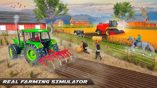 Real Tractor Farming -New Tractor Driving Sim 2021 Apk Download 3