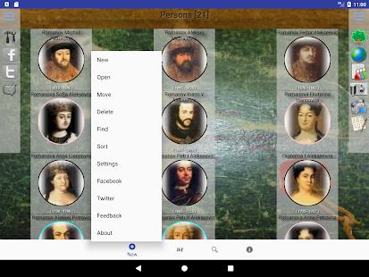Genealogical trees of families screenshots 10