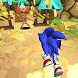 Blue Hedgehog Run - Jungle Rush Adventure