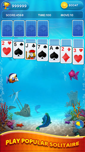 Solitaire Sea - Collect Cards And Fish  screenshots 1