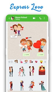 WAStickerApps: Romantic Love Stickers for whatsapp Screenshot