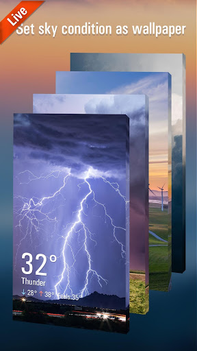 3d weather live wallpaper for free screenshot 1
