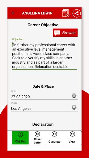 Resume Builder App Free CV Maker & PDF Templates 7.5 Screenshots 11