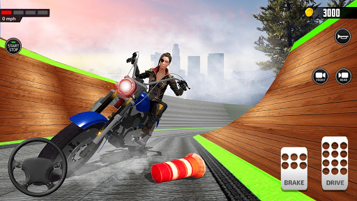 Impossible Mega Ramp Moto Bike Rider Stunts Racing  screenshots 7
