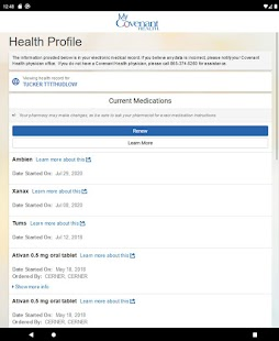 MyCovenantHealth Screenshot