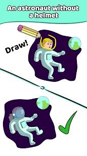 Draw a Line: Tricky Brain Test 6