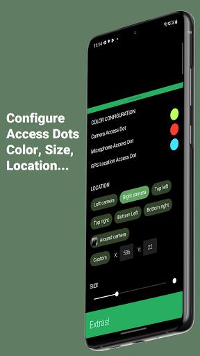 Access Dots - Android 12/iOS 14 privacy indicators  screenshots 6