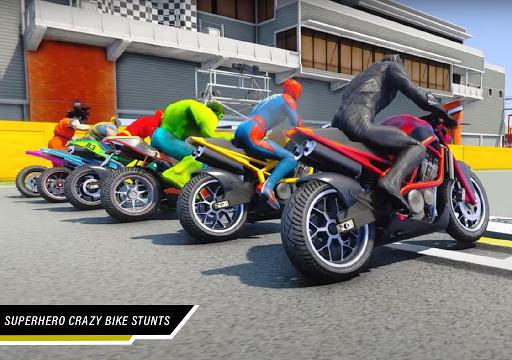 Superhero Tricky Bike Stunt Racing 2021  screenshots 4