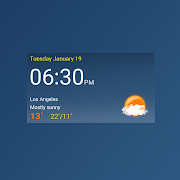 Digital clock weather theme 1