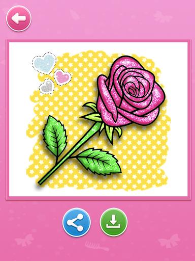 Glitter beauty coloring and drawing apktram screenshots 14