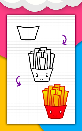 How to draw cute food, drinks step by step 1.6.2 Screenshots 8