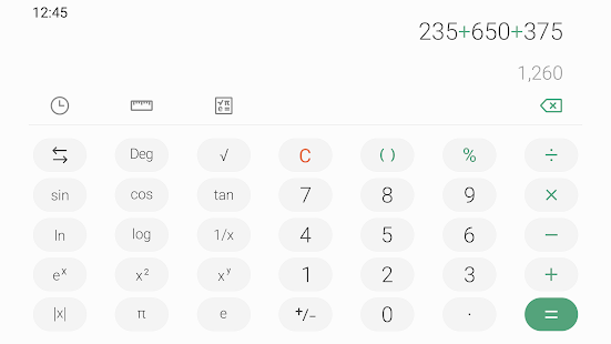 Samsung Calculator Screenshot